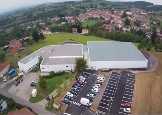 Prise de vue aérienne de l'usine à Bussières
