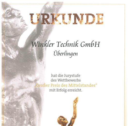 Alexander Winkler Winkler Technik großer preis des mittelstandes