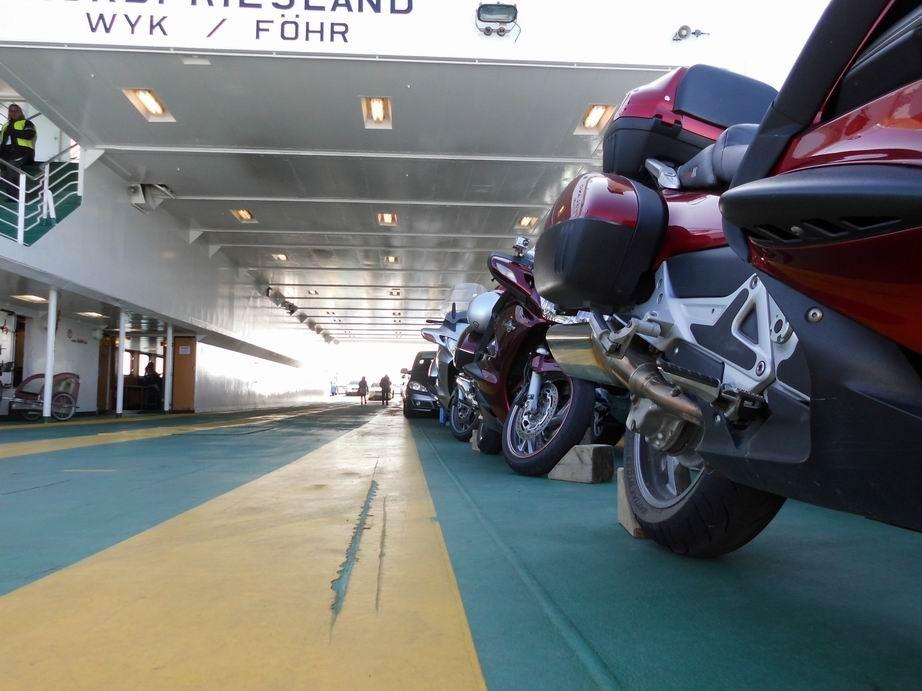 gesicherte Motoräder