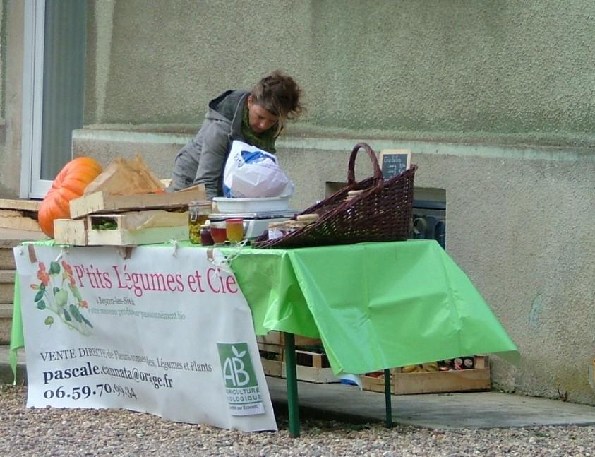 Pascale Cannata et ses légumes