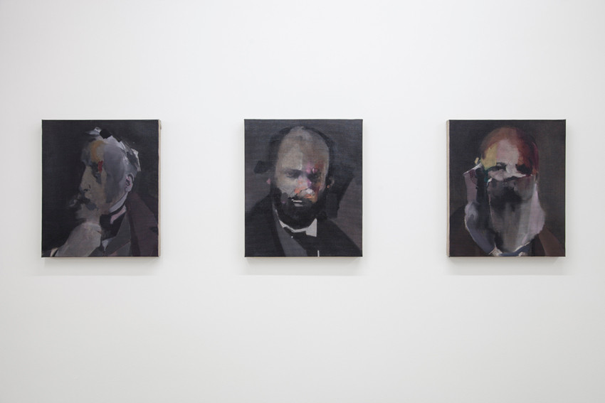 Blind Painters I, II, III. Nacho Martín-Silva. Installation view at Sobering Galerie.