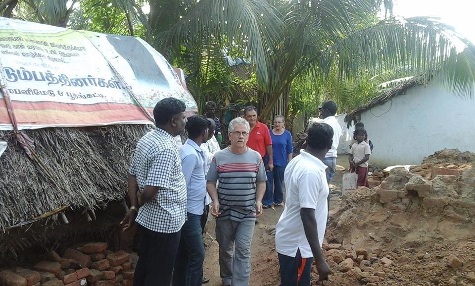 Visite de Kamblimedu un autre village dévasté.