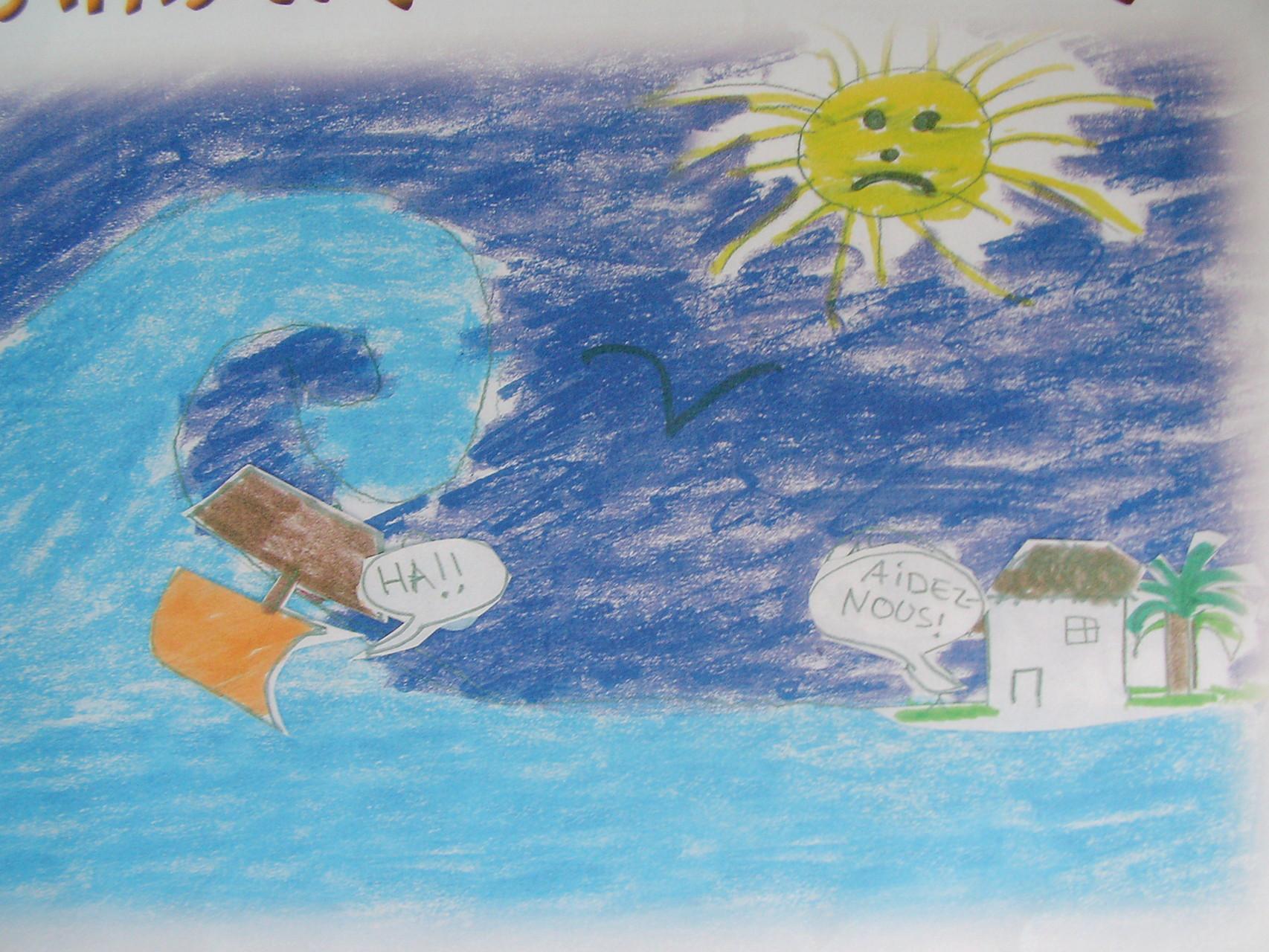Juin 2005 - La somme de 838 € a pu être récoltée et ainsi envoyée aux victimes du tsunami - Merci - Milesker - Nandri