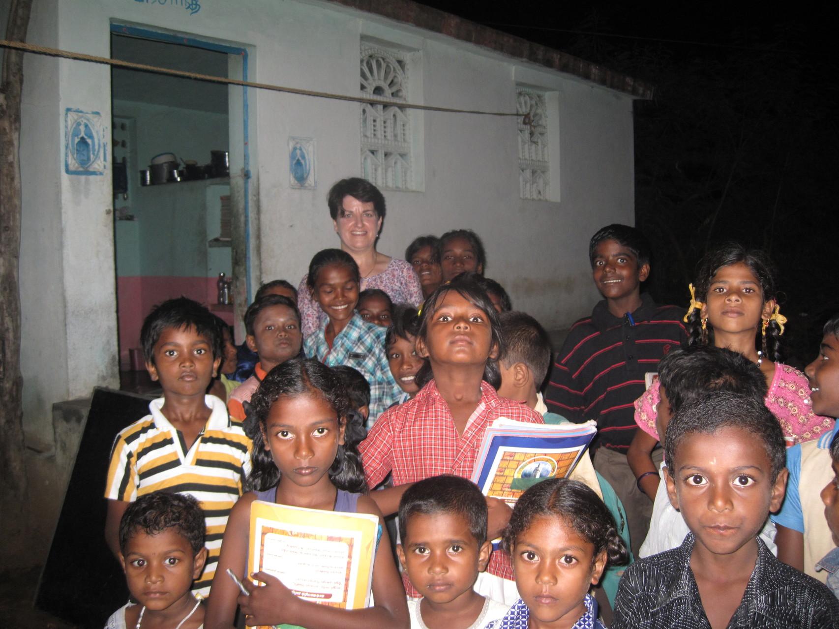 Cours du soir à Somasipadi - Novembre 2011