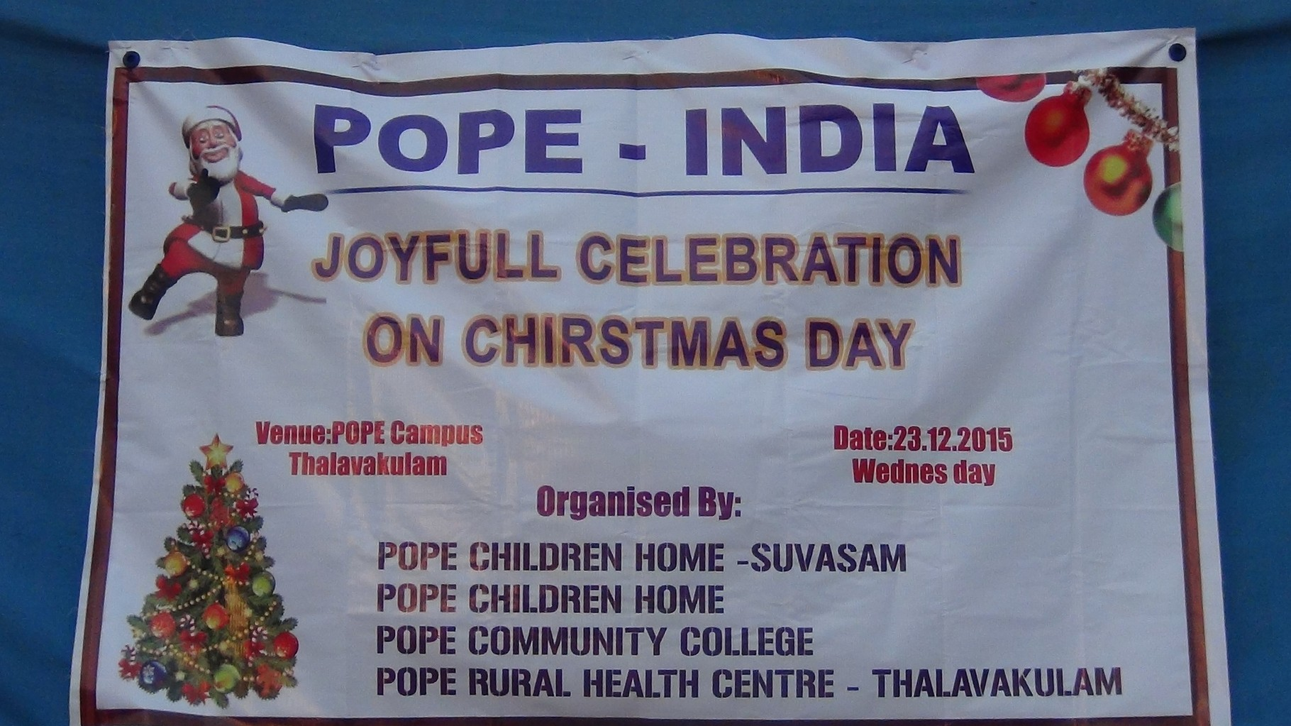 Noël est célébré dans les 3 centres de POPE