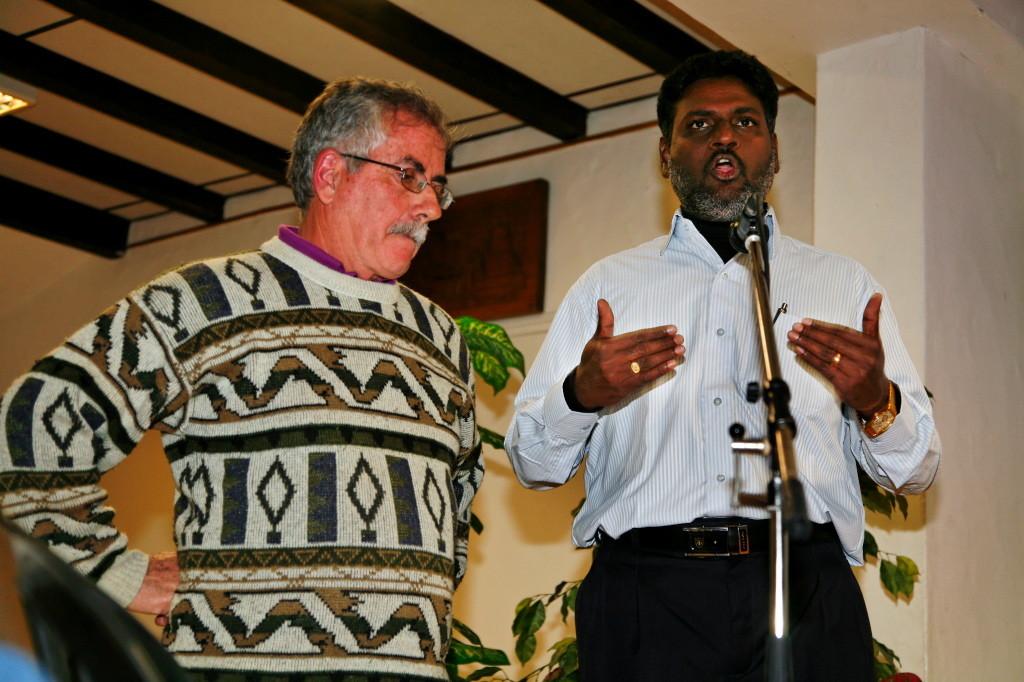 2012 - Rosario témoigne de sa vie de Dalit, d'avocat des droits de l'Homme