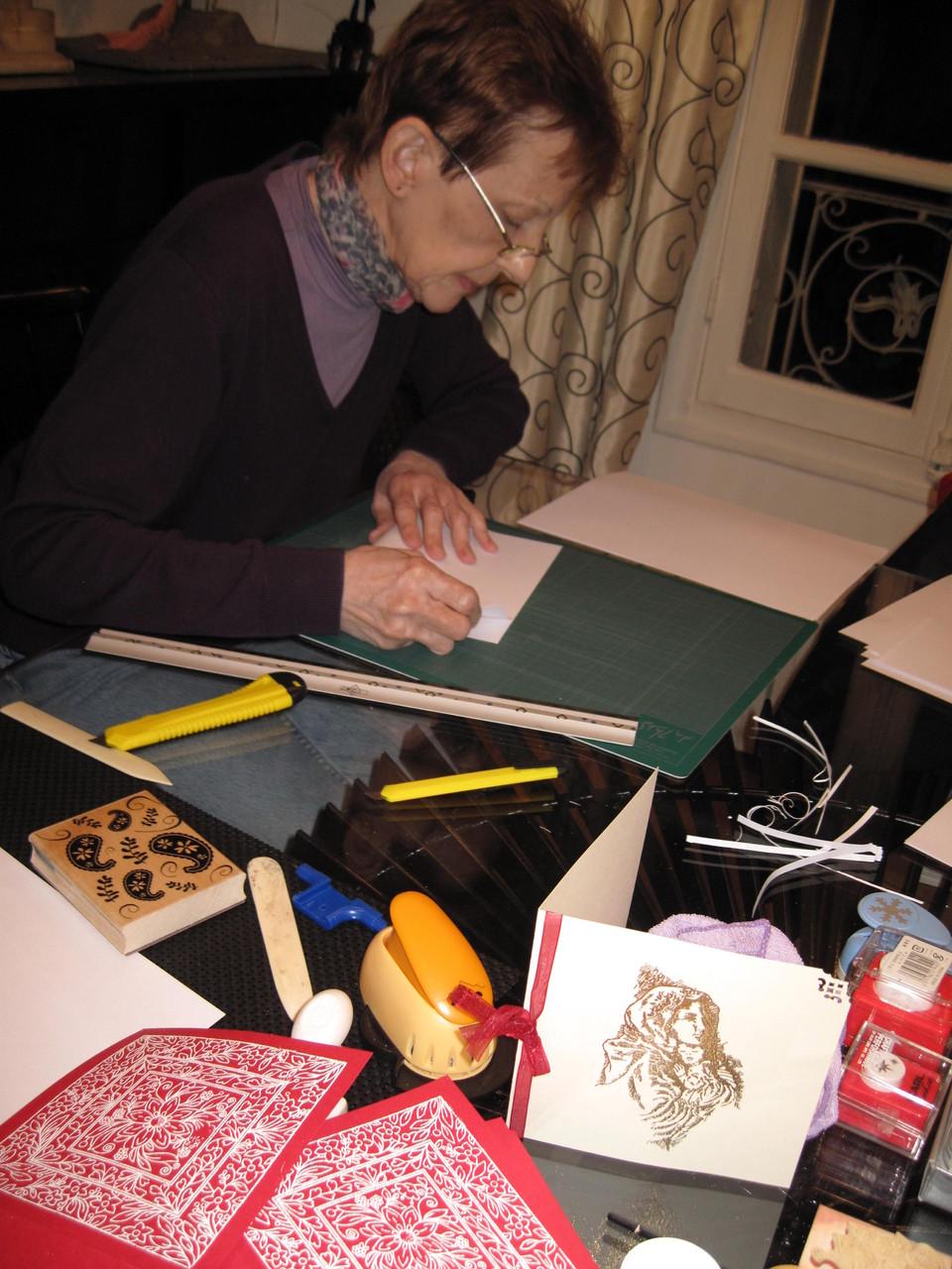 Atelier du Souffle du Sud - Création des cartes de vœux artisanales proposées à la vente