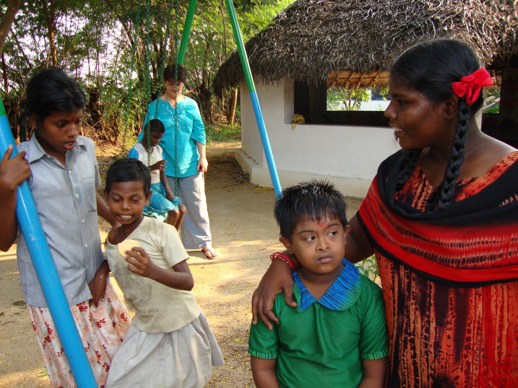 Avec les enfants d'Anjali de GRRC - Octobre 2011