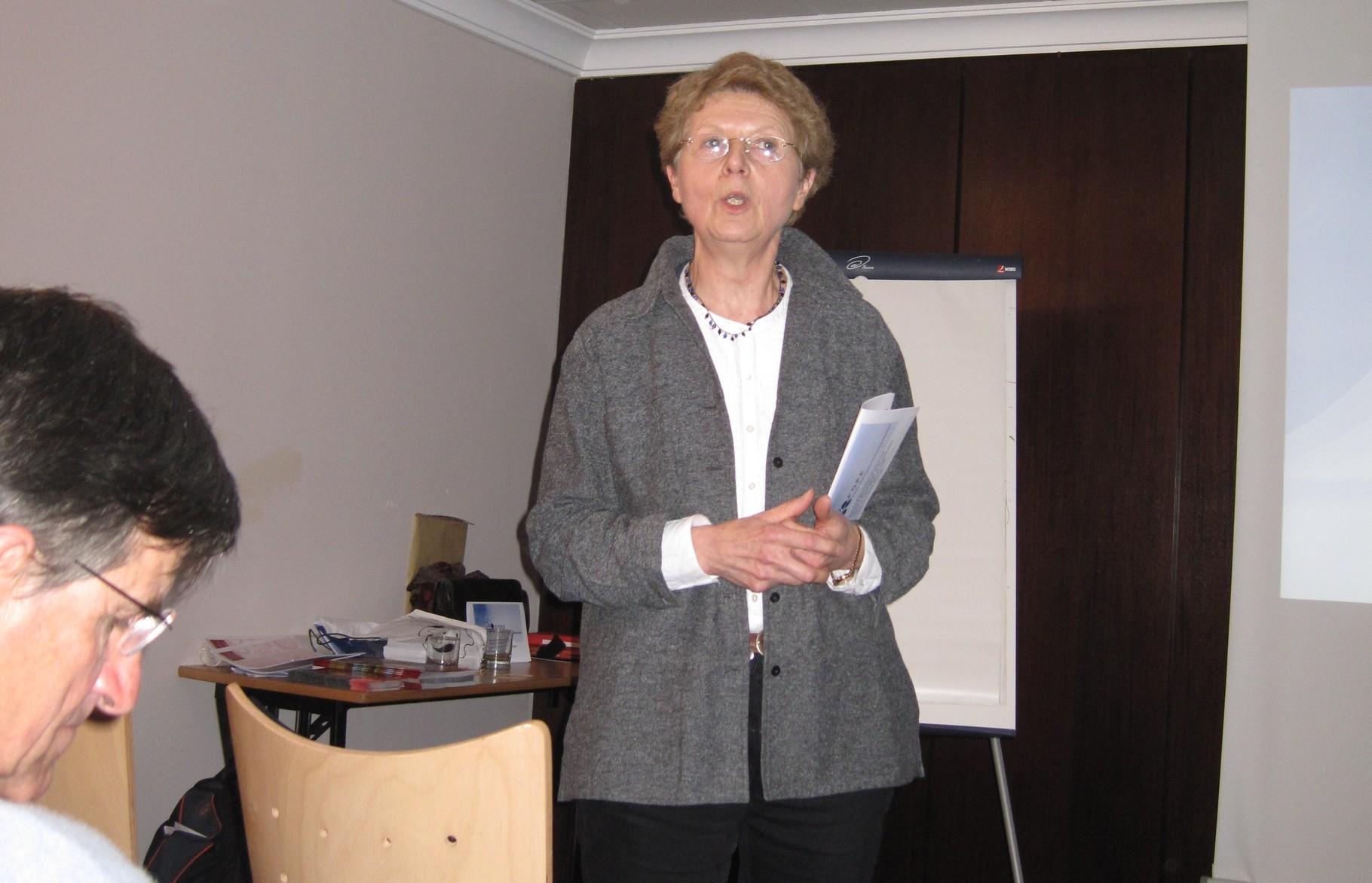 2012 - Marianne Didierjean accueille Rosario et les partenaires français de POPE