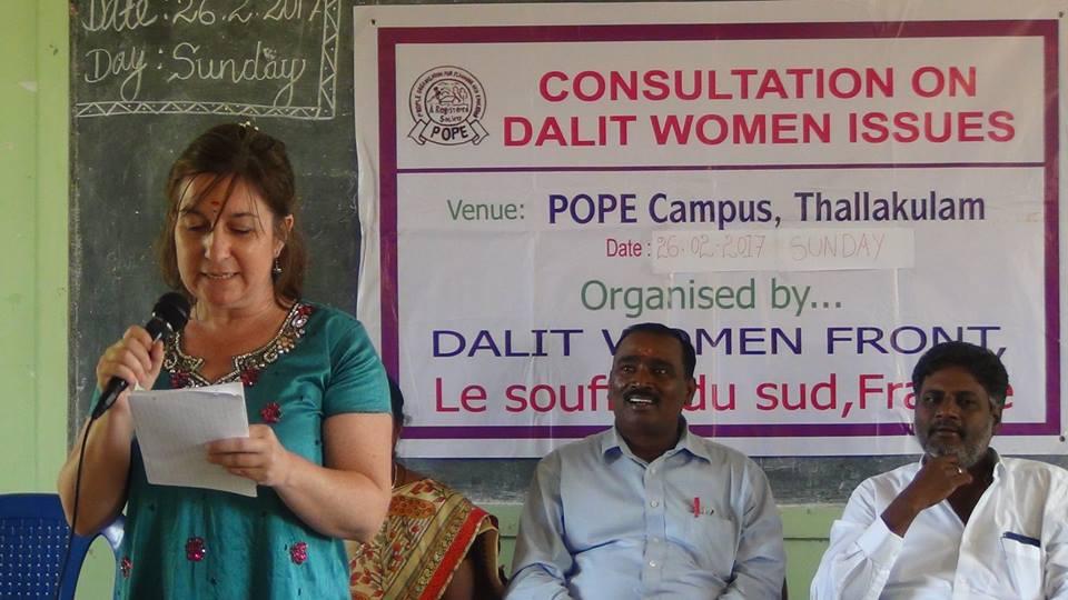 Agnès à son tour délivre un message en tamoul.