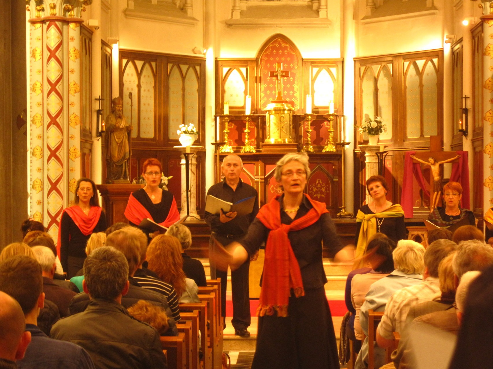 Chef de Choeur Ad Libitum - Concert à l'église Sainte Rita à Vendeville - Avril 2014