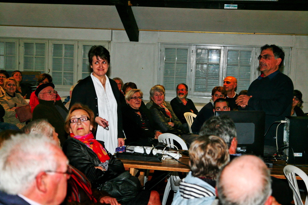 Présentation des actions de POPE et de notre association à Ascain avec Mizel Jorajuria - Avril 2012