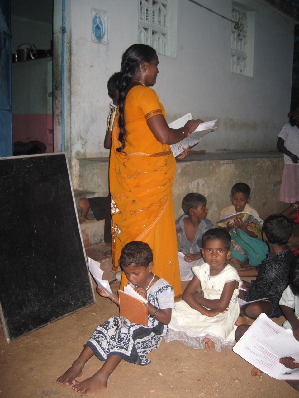 Leçon à Somasipadi