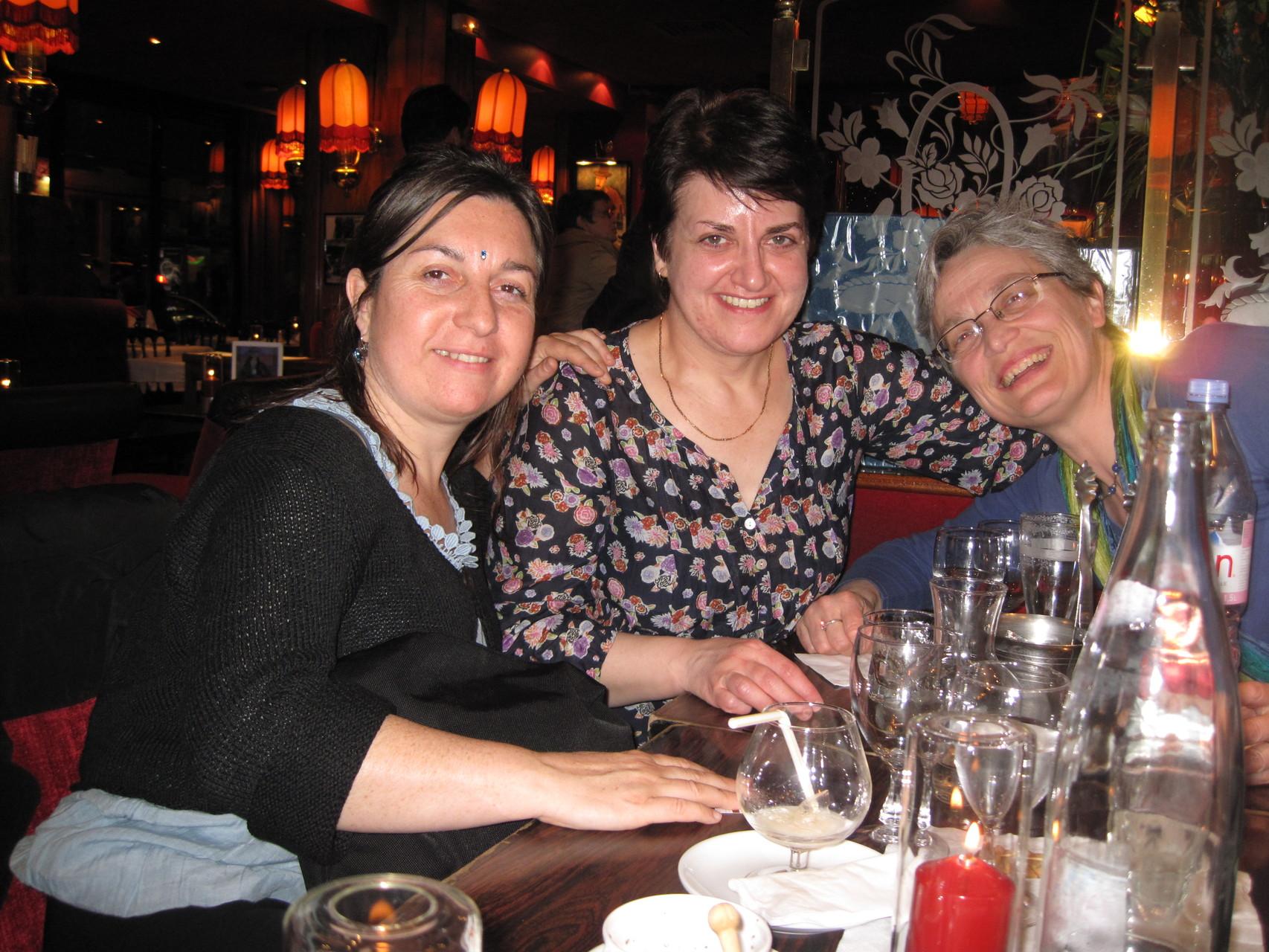 2012 - Pause après la conférence dans le quartier de Montparnasse.