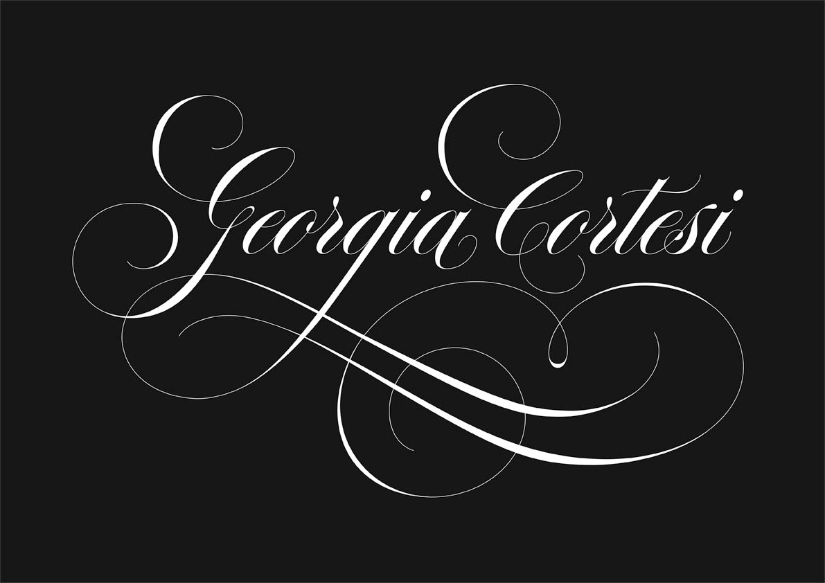 Calligraphie en Anglaise - © Serge Cortesi