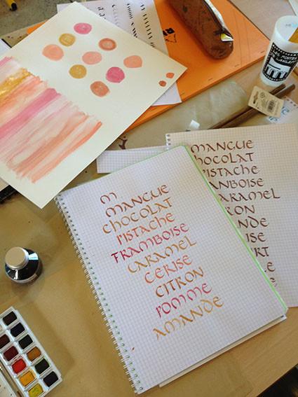 Calligraphie de Marie-Astrid