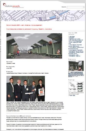 Premio Holcim Award 2004