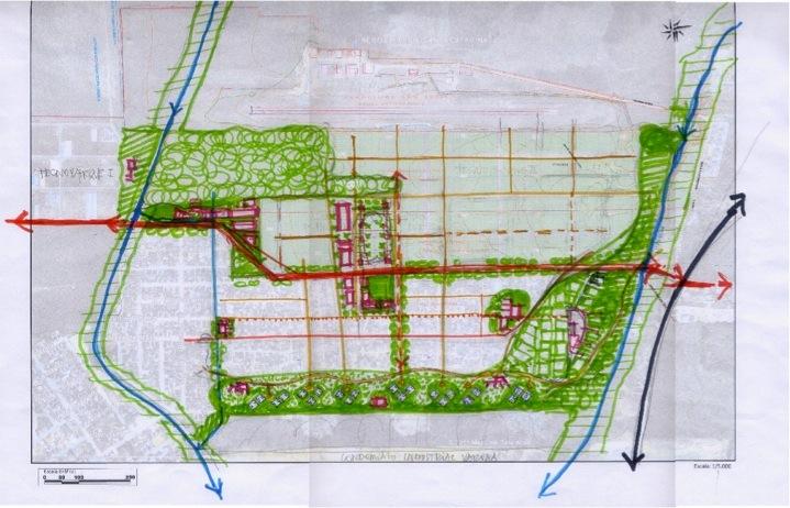 La propuesta urbana.
