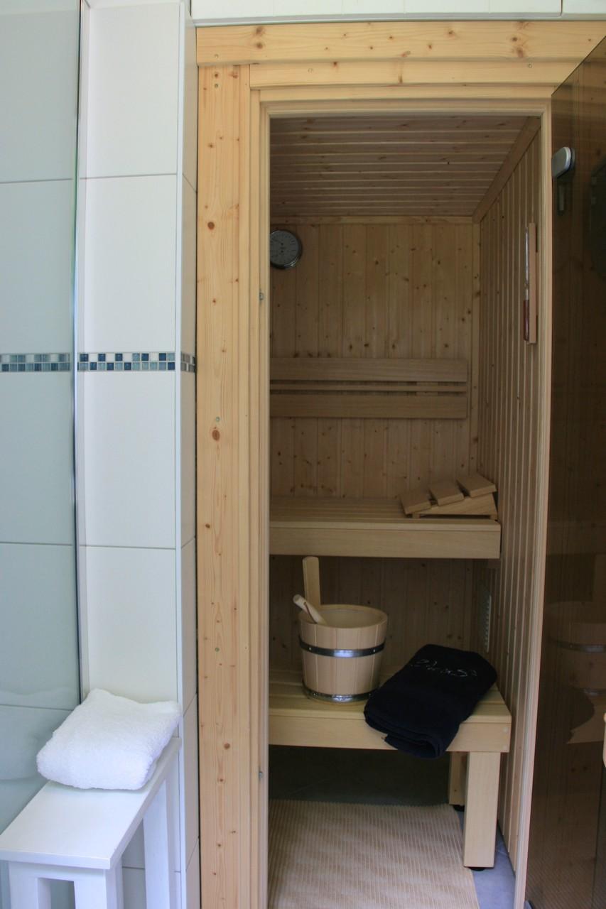 Sauna mit Dusche im EG