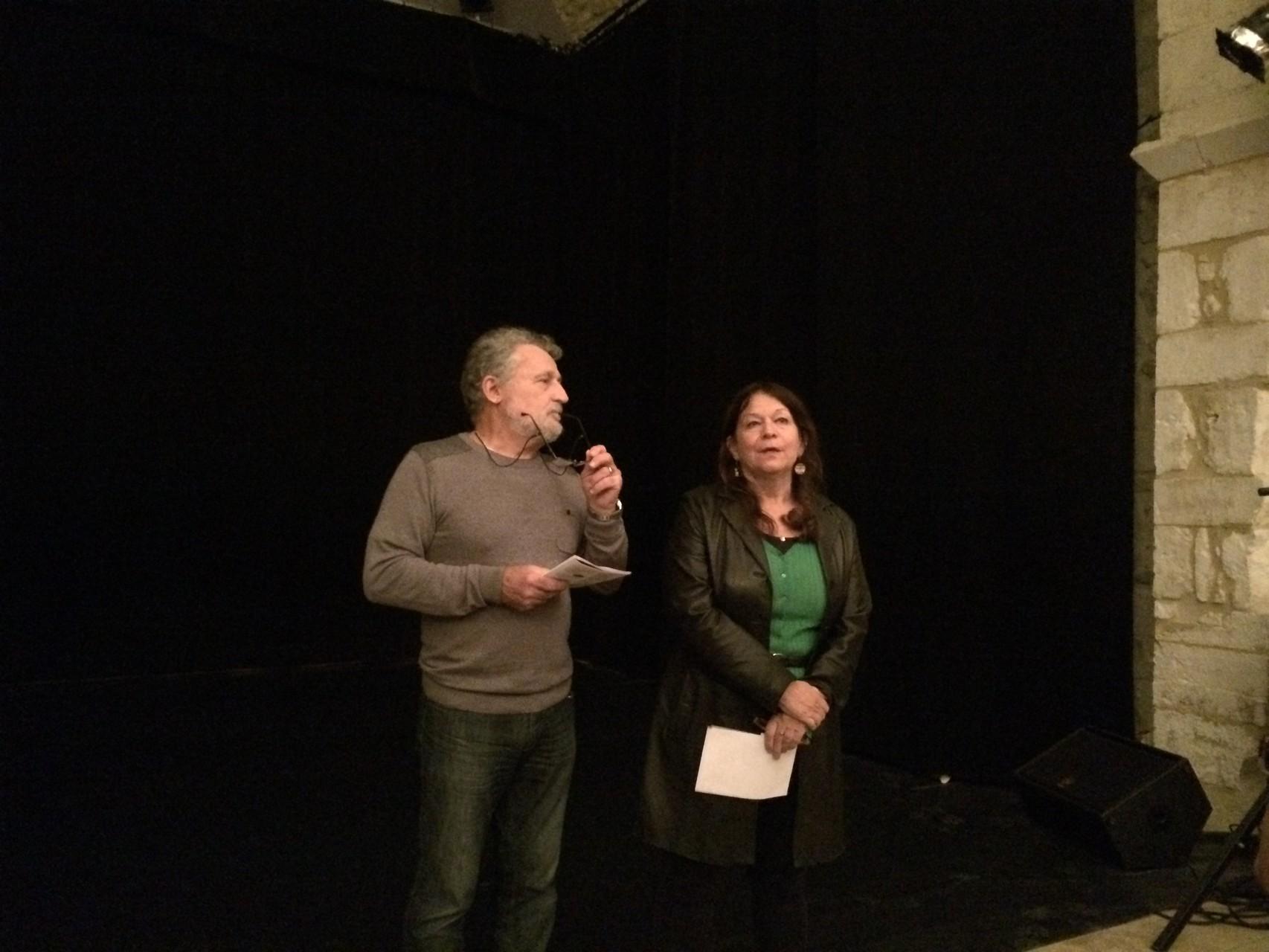 Michel Rimbault pour Ardèche Dianwali Mali et Mireille Cluzet pour Ardèche Afrique Solidaires
