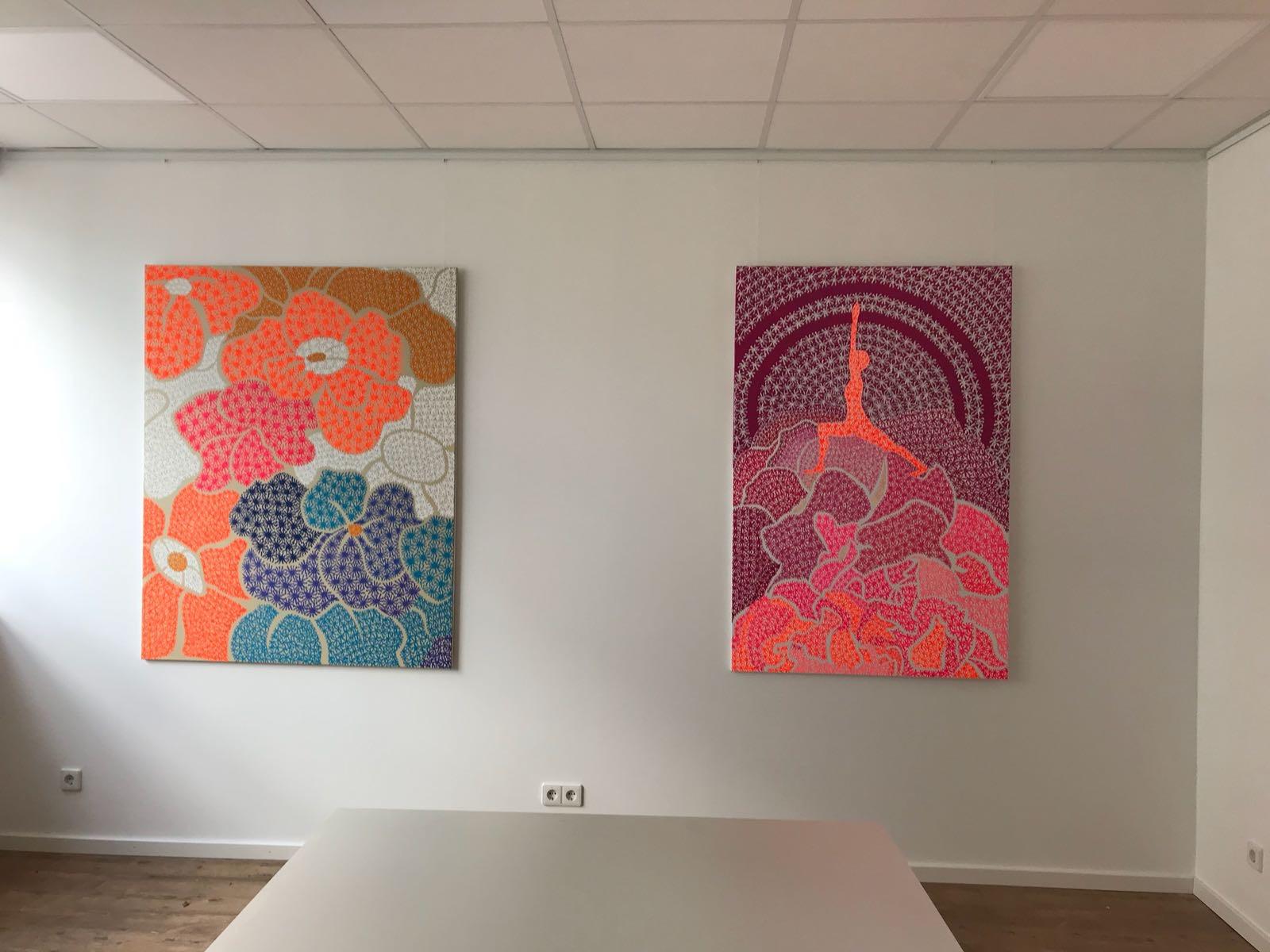 Blumen / Krieger I - Yoga