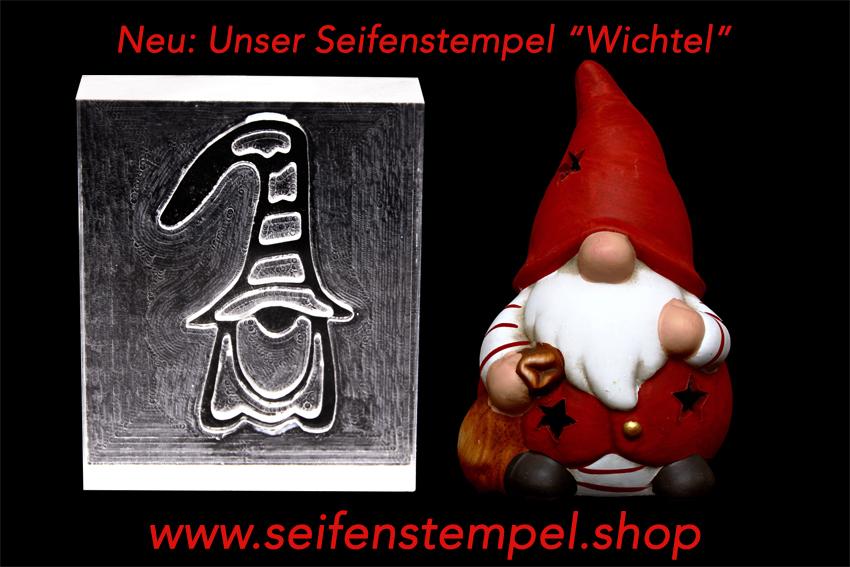 Seifenstempel, Seifenstempel.Shop, Weihnachtsmotive, Seifenstempel Wichtel, Seifenstempel aus Acrylglas, individuelle Seifenstempel