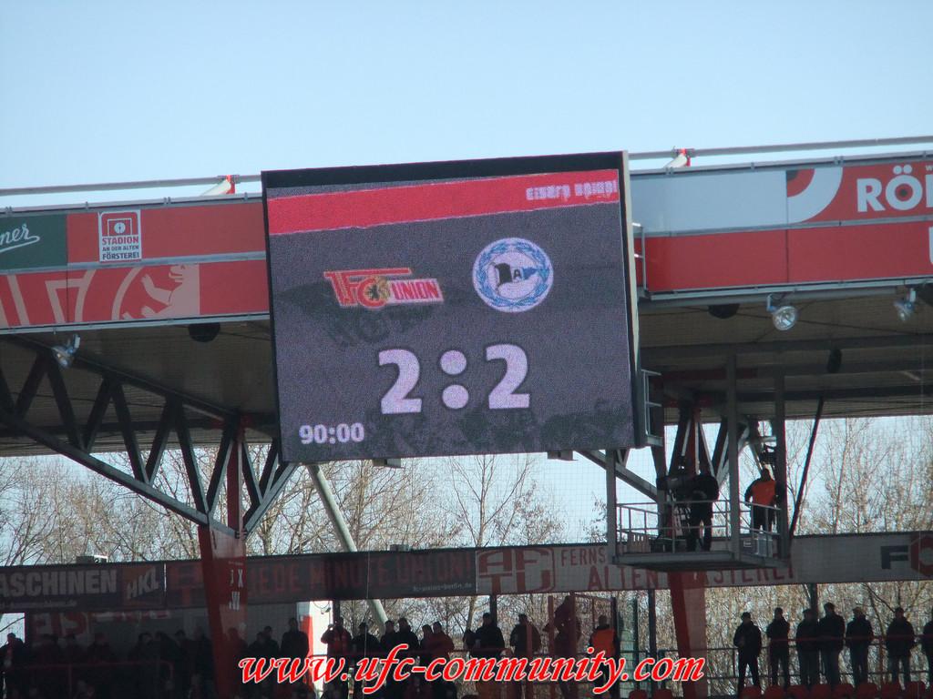 Endstand Union vs. Bielefeld, Union zwei Platzverweise