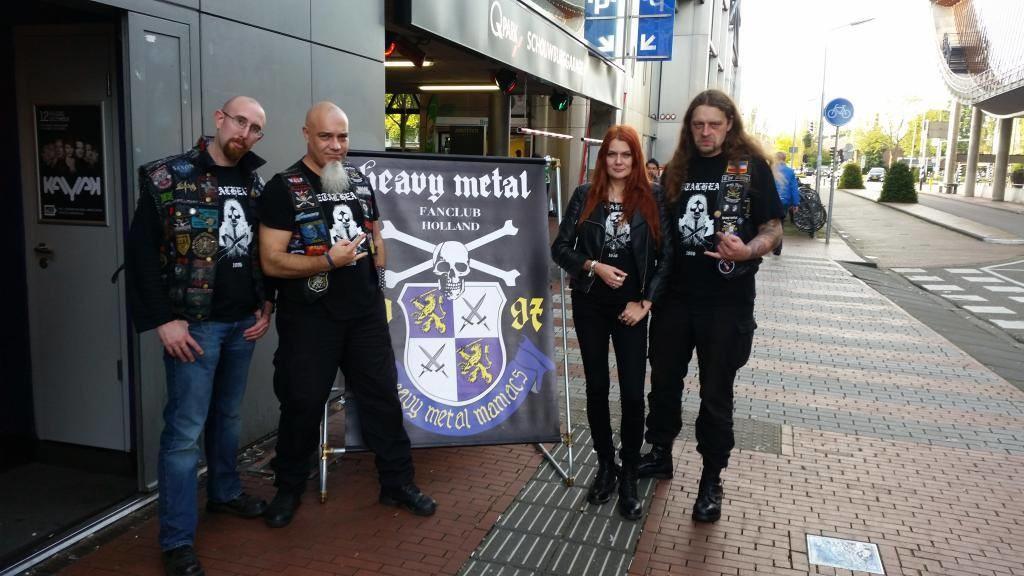 Jens, Thim, Gaby und Tino auf dem Heavy Metal Maniacs Festival, Amstelveen, Holland