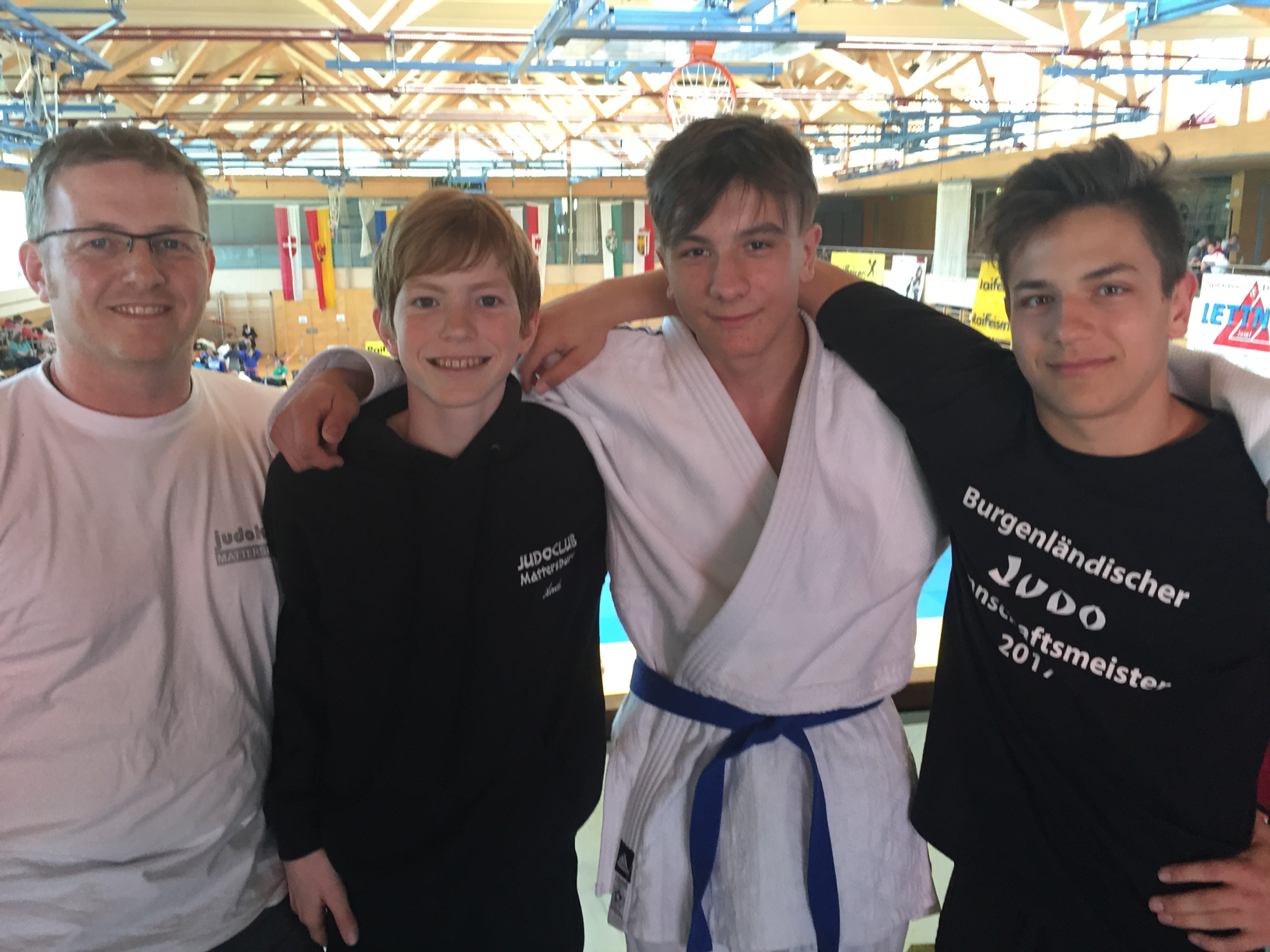 Trainer Thomas Puntigam, Andreas Puntigam, Julian Riedinger, Tobias Leyrer