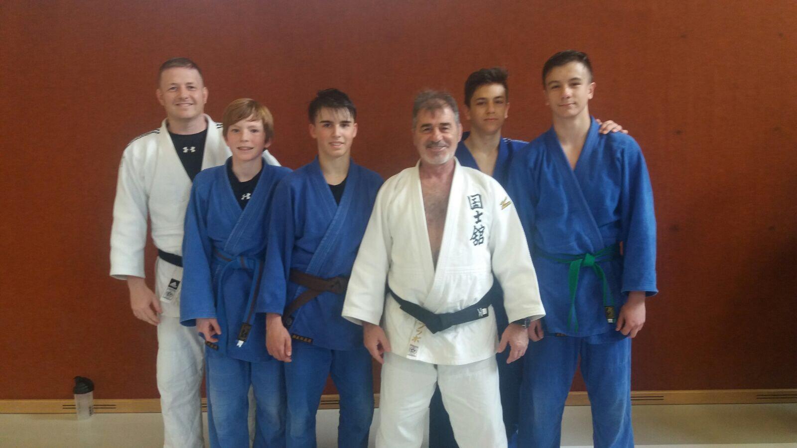 Unsere engagierten Judoka mit Trainer T. Puntigam und H. Rohrauer