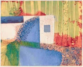 Susann Poenisch,Hippolytes Bungalow, Farbradierung und Aquatinta, drei Druckplatten, 39,7 x 49 cm, 2014