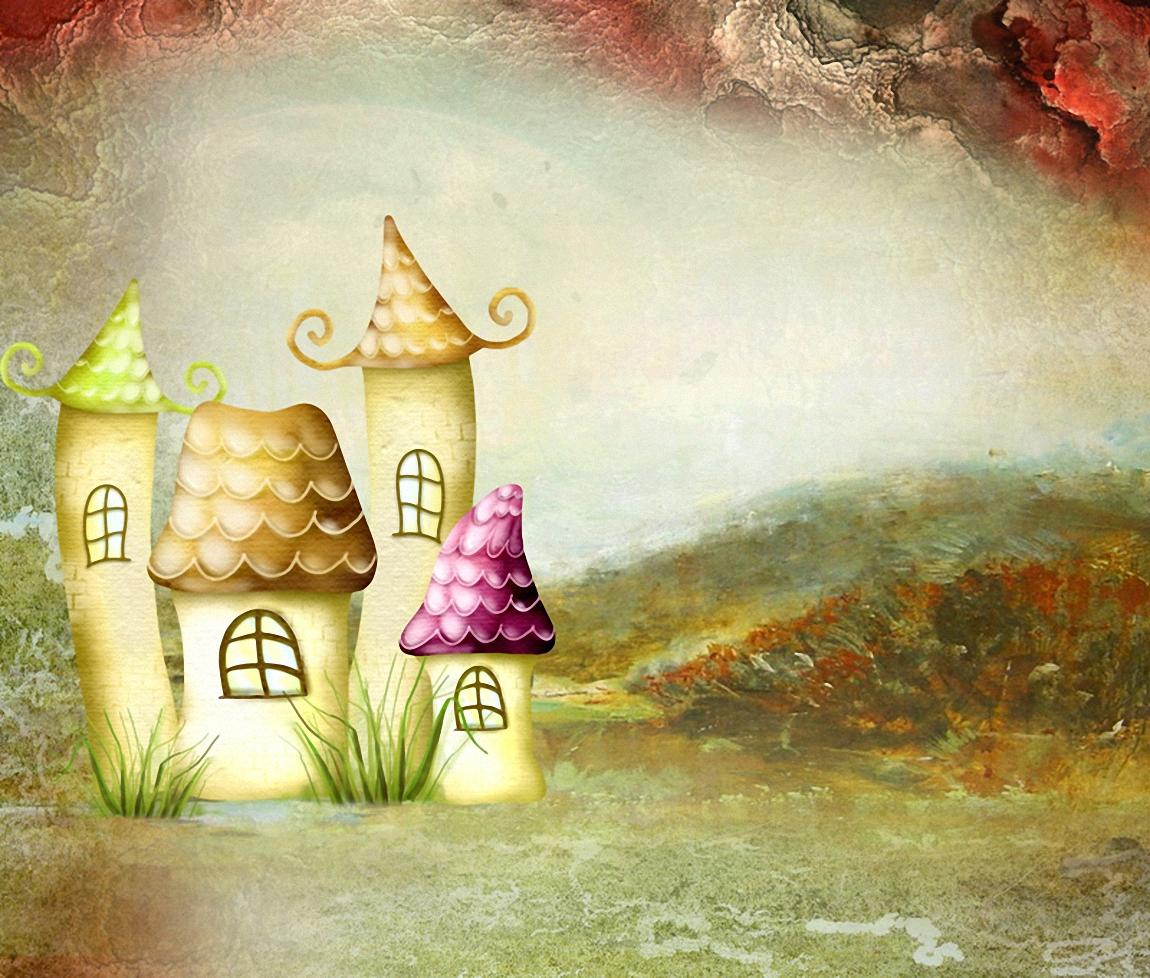 Сказочные домики картинки рисунки, хорошего настроения