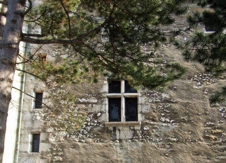 Adossé à la montagne du Semnoz, le château surplombe le lac d'Annecy
