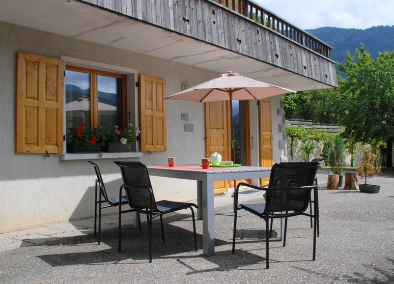 The south facing terrace of your french location