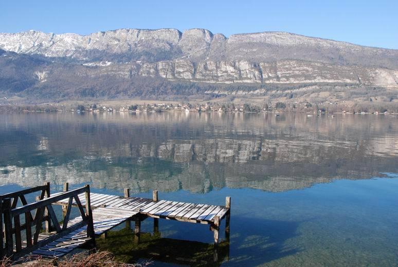 ... et de la baignade au lac d'Annecy (à 10mn du gîte)