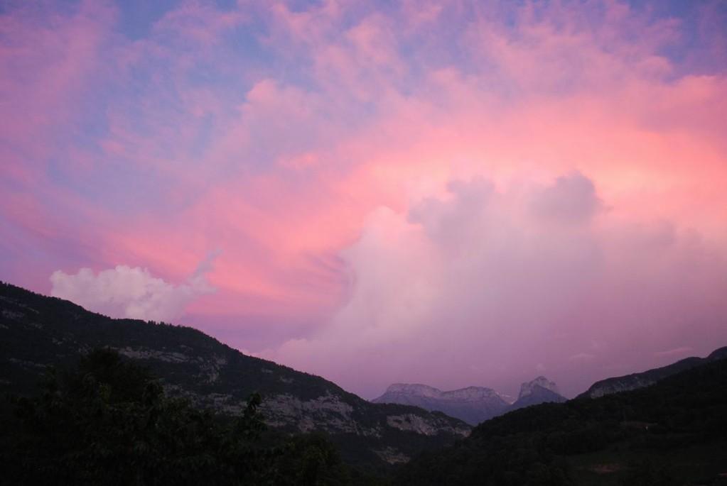 Des couchers de soleil spectaculaires...