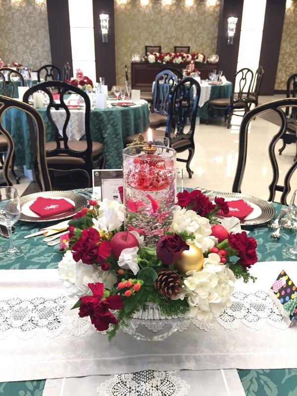 クリスマスの花飾り