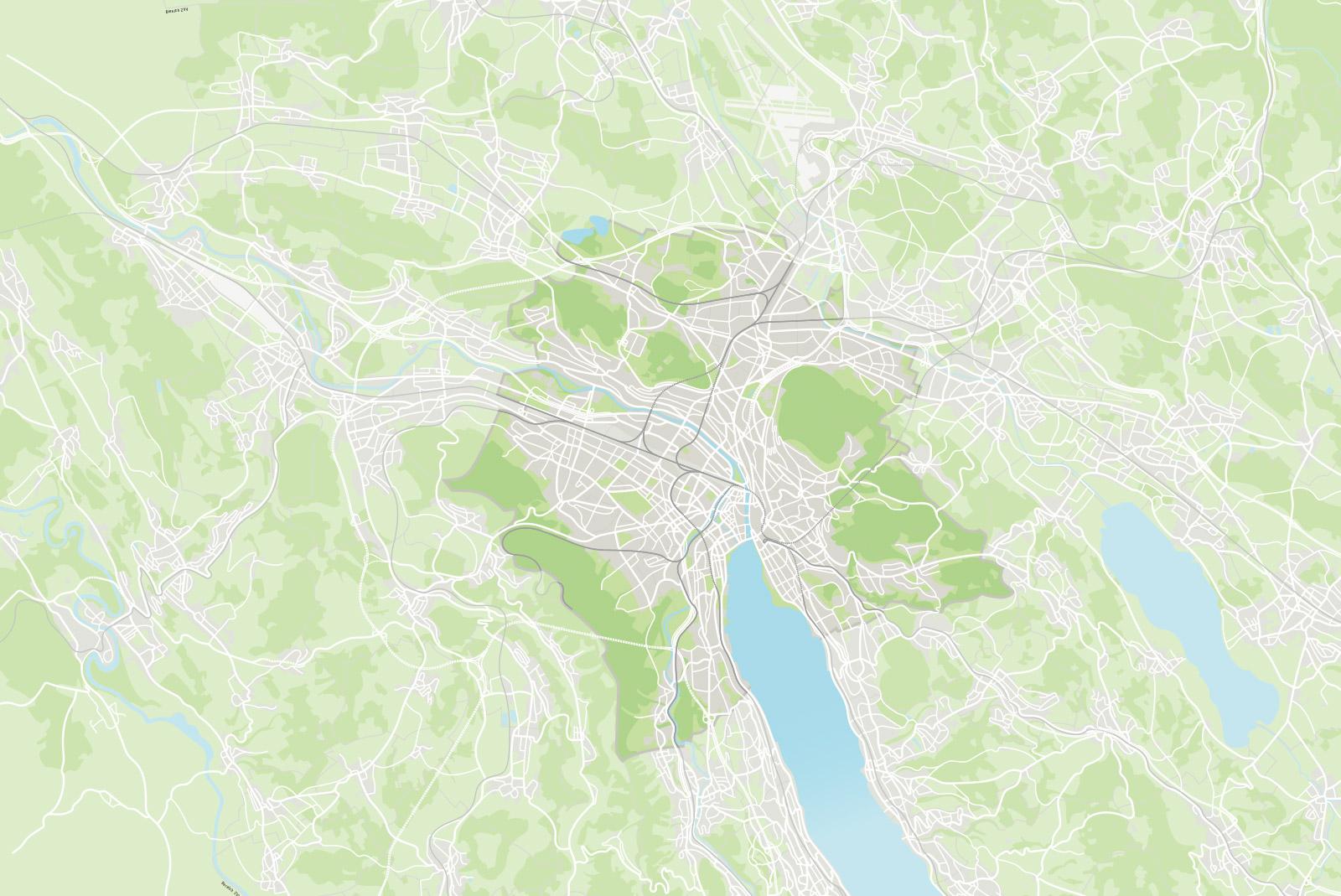 Gesamter Plan Grossraum Zürich