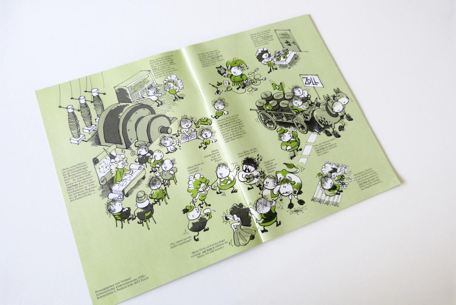 Verband Schweizerischer Elektrizitätswerke VSE: Illustration für Hauszeitschrift