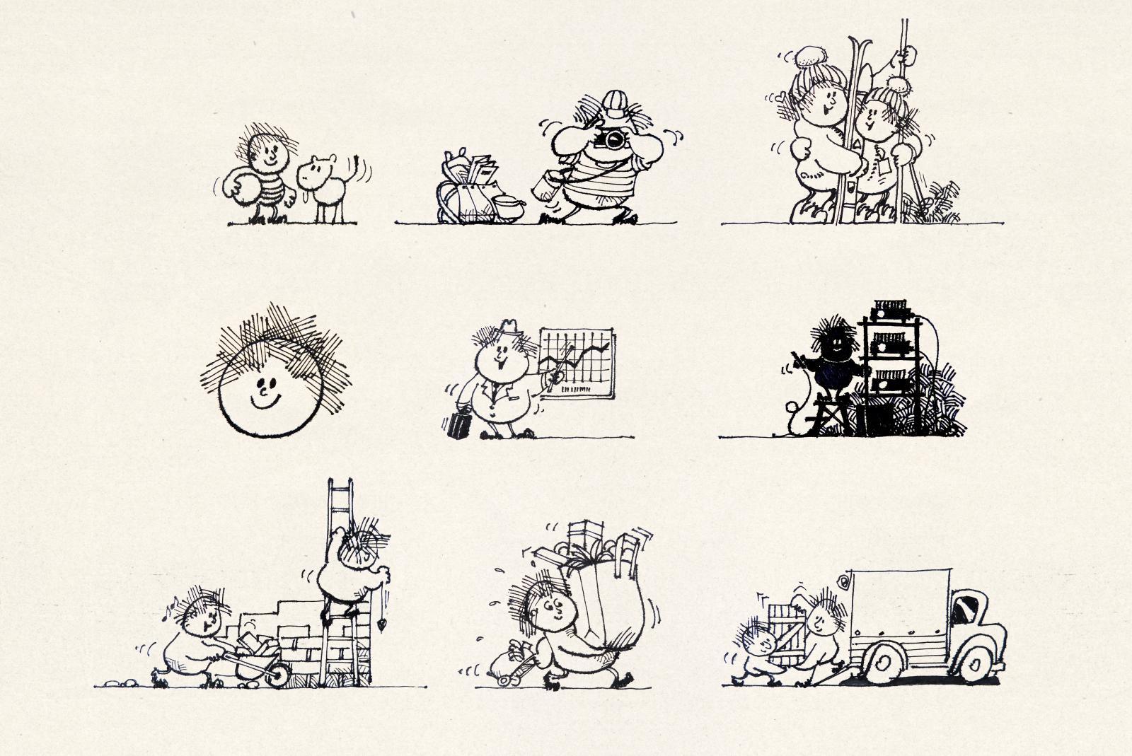 Tscharner AG: Illustrationen für Eigenwerbung