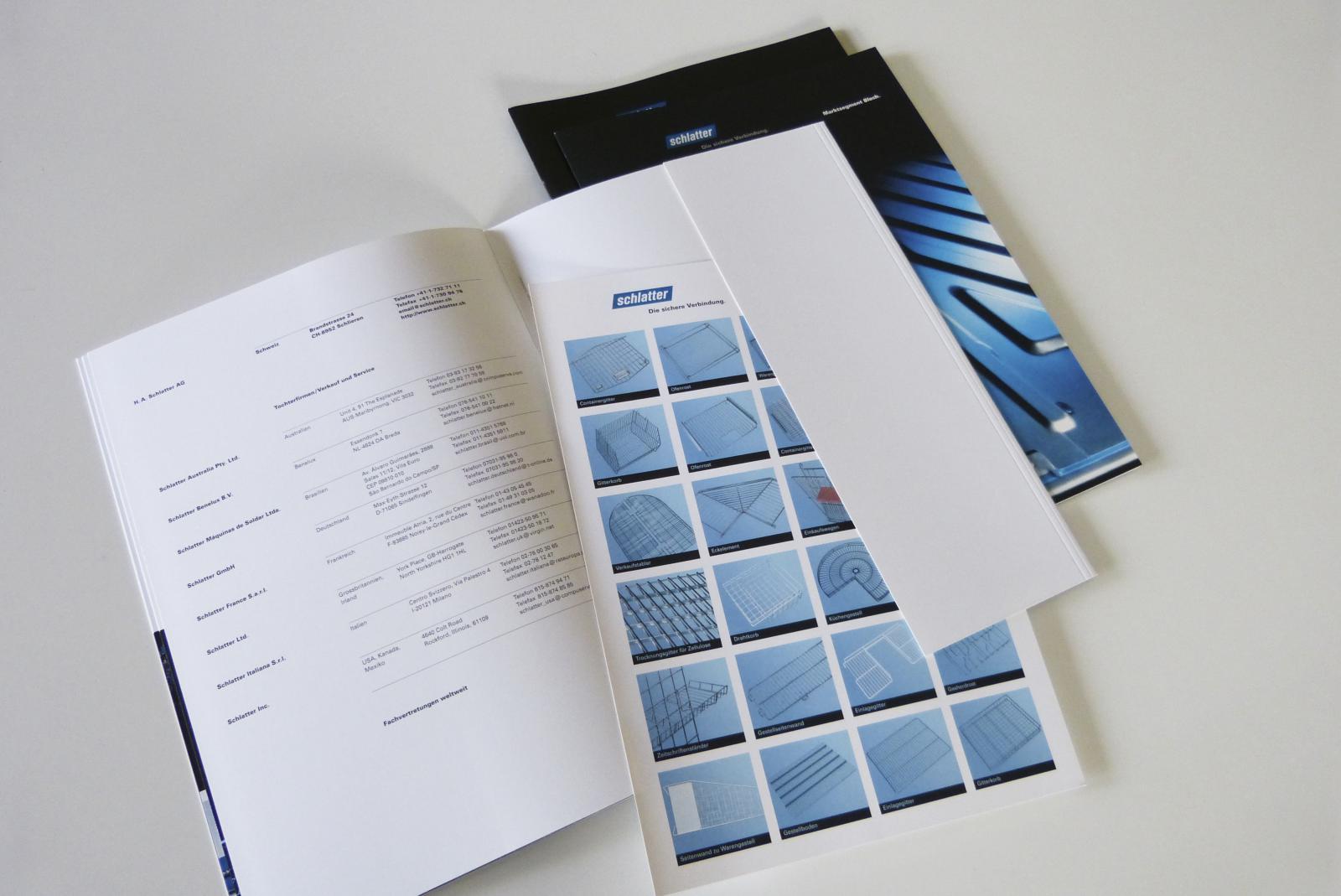 Letzte Seite, Umschlag mit Klappe für Produktblätter