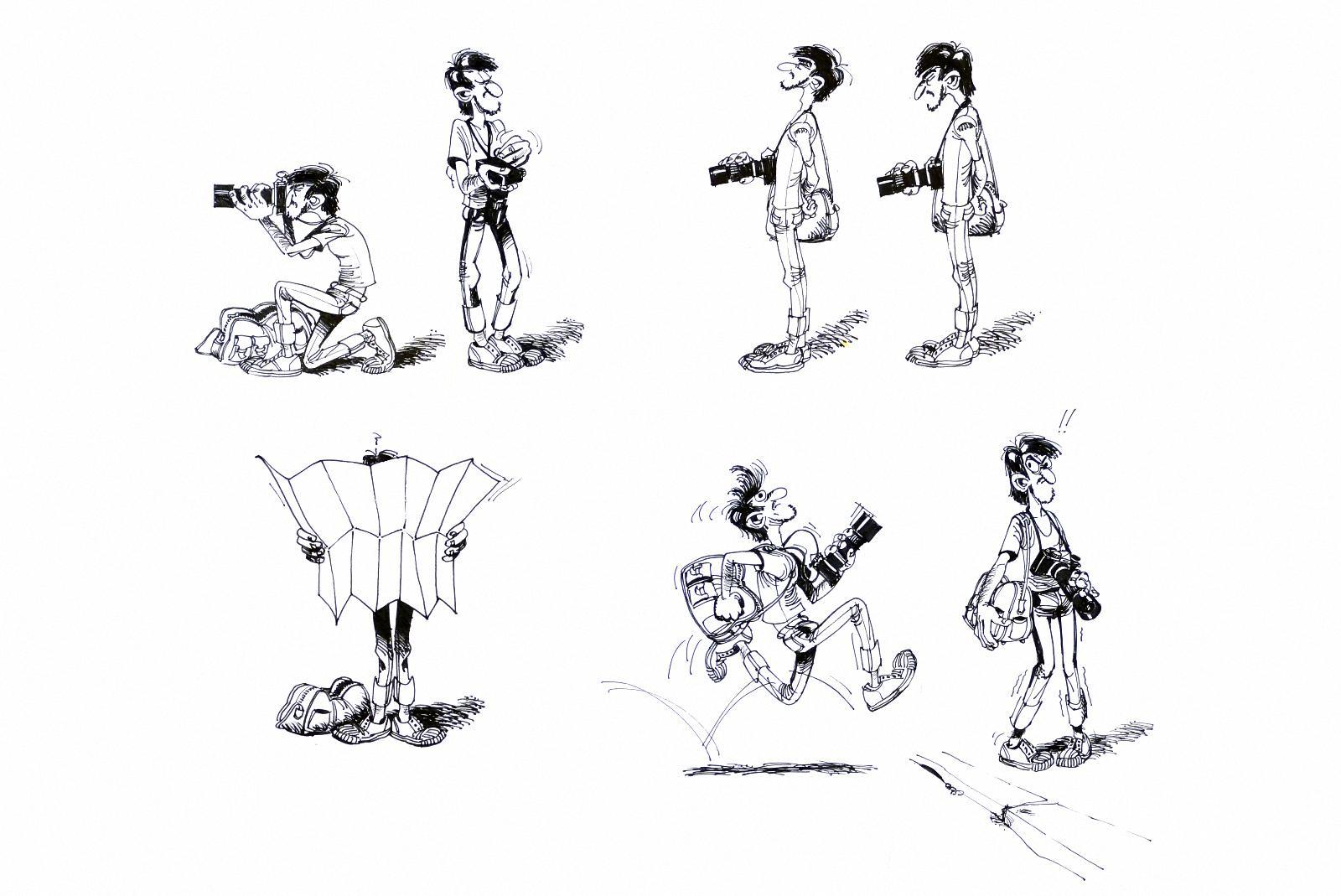 Illustration für ein privater Fotografenfreund