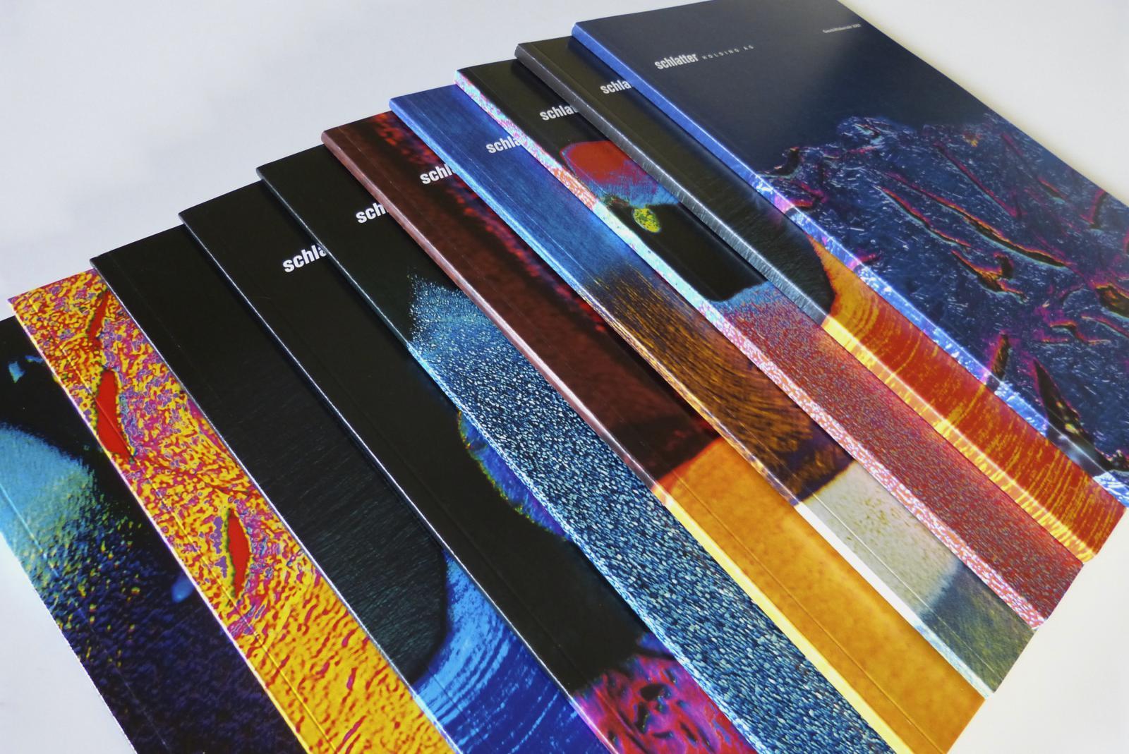 Titelblätter mit Mikroaufnahmen von Schweissstellen