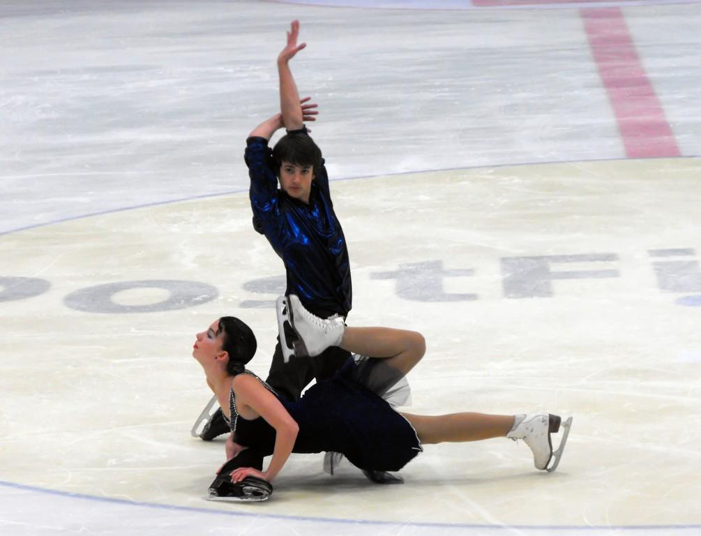 Cécile und Richard Postiaux (Frankreich) Junioren Eistanz