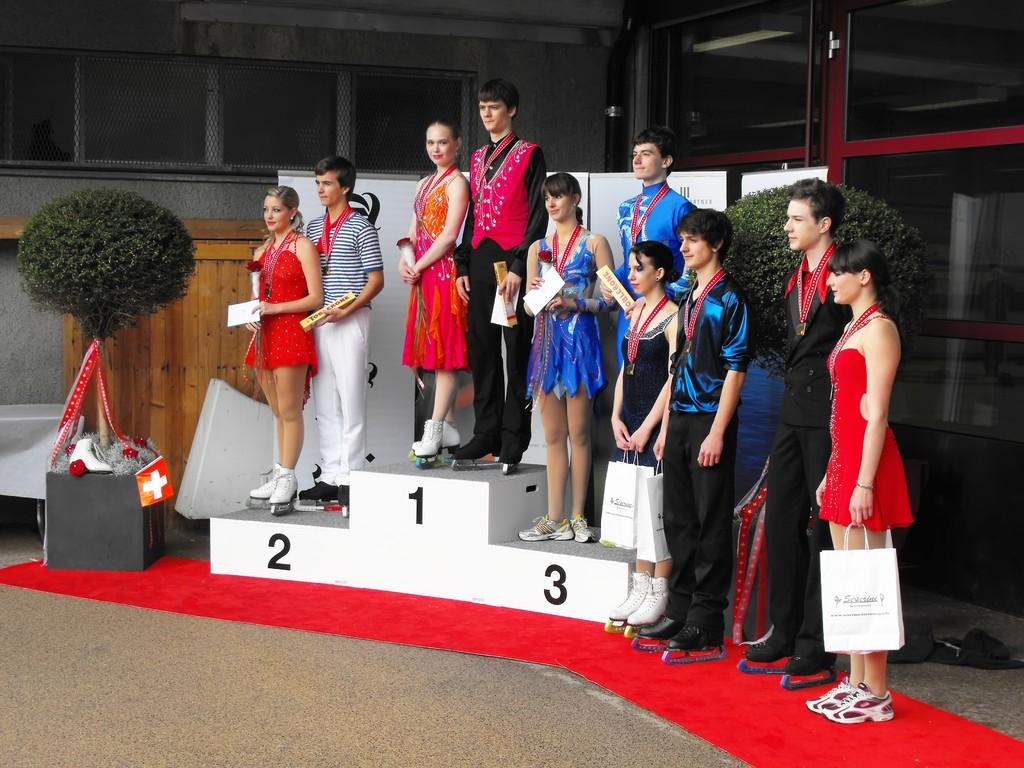Siegerehrung Junioren Eistanz