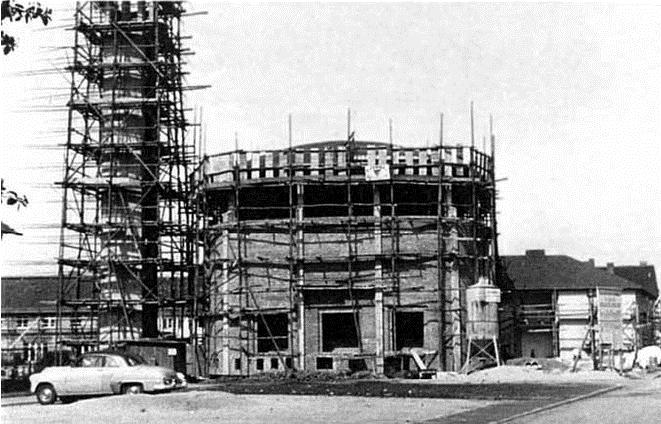 Die Baustelle der St. Pius Kirche