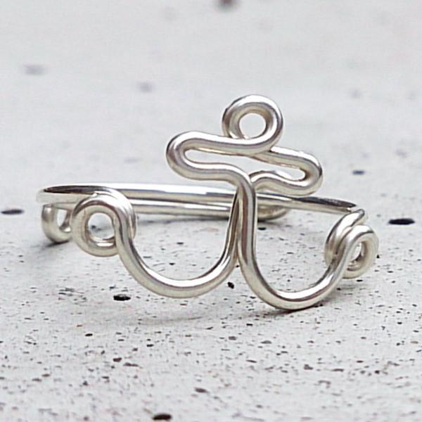 ANKER Ring, Sterling Silber Draht 29.50,-