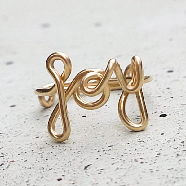 JOY Ring, Gold Filled