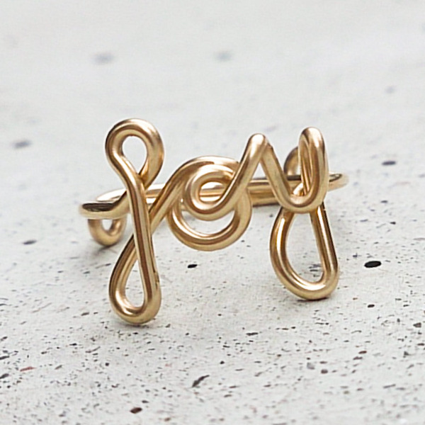 JOY Ring, Gold Filled