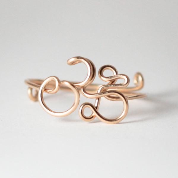 OM Ring, Gold Filled Draht 32.50,-